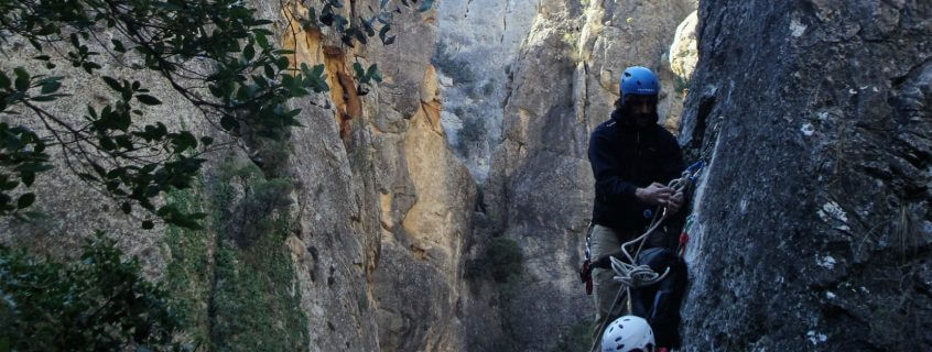 mountain abseiling