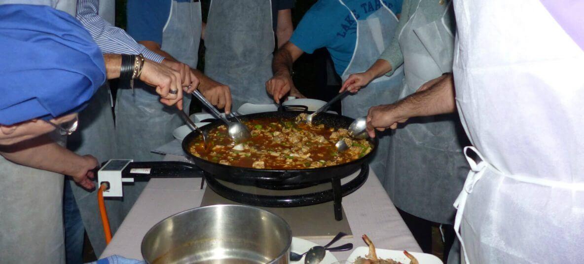 Paella cooking in Mallorca